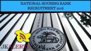 National Housing Bank Recruitment 2016