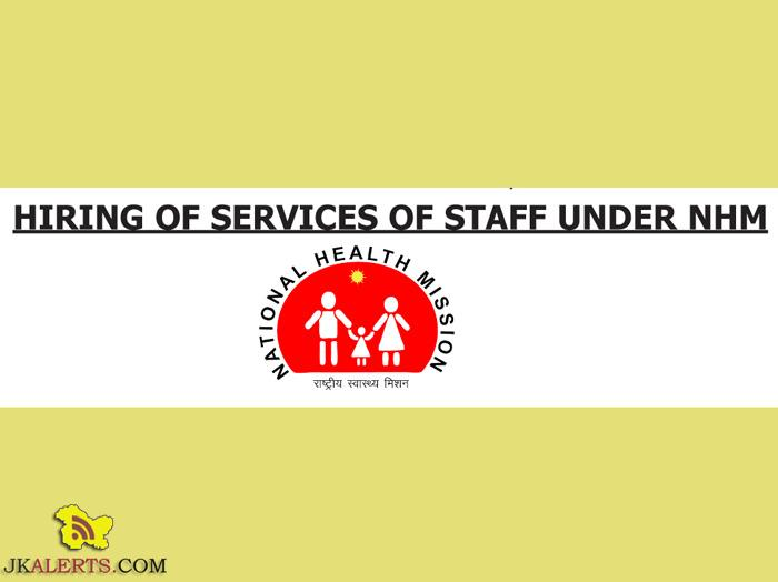 Hiring of Staff under National Health Mission