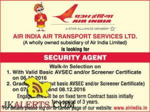 AIR INDIA AIR TRANSPORT SERVICES JOBS