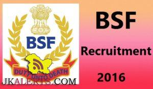 BSF Assistant Sub Inspector, Head Constable Recruitment 2016 157 posts