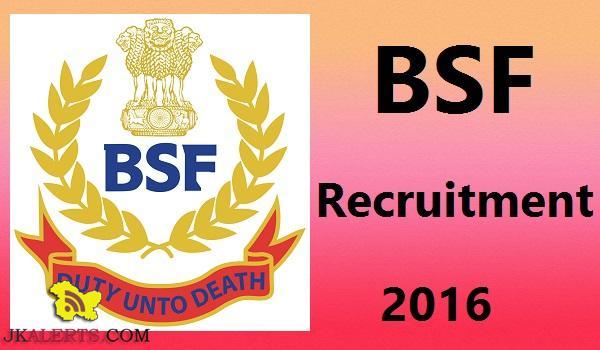 BSF Assistant Sub Inspector, Head Constable Recruitment 2016 157 posts