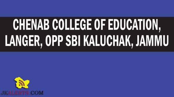 CHENAB COLLEGE OF EDUCATION JOBS