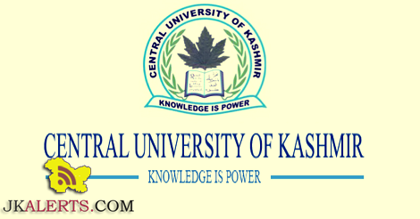CENTRAL UNIVERSITY OF KASHMIR NON TEACHING RECRUITMENT 2021