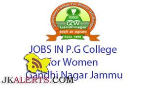 GOVT. COLLEGE FOR WOMEN JAMMU JOBS