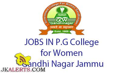 GOVT. COLLEGE FOR WOMEN JAMMU JOBS
