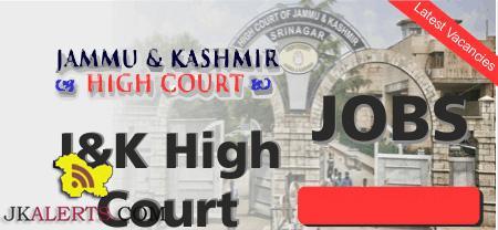 J&K High Court Driver Interview Schedule.