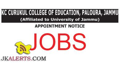 KC Gurukul College of Education Jobs