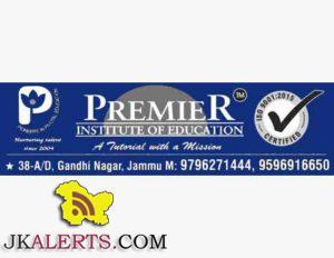 PREMIER INSTITUTE OF EDUCATION JAMMU JOBS