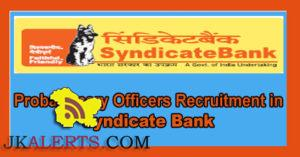 Syndicate Bank PO Recruitment 2016