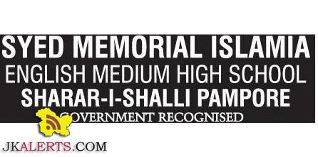Syed Memorial Islamia English Medium High School Jobs