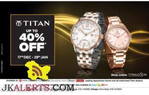 Titan upto 40% off from 17th Dec - 29th Dec