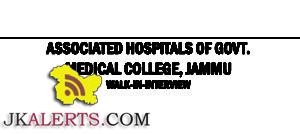 WALK IN ASSOCIATED HOSPITALS OF GOVT. MEDICAL COLLEGE, JAMMU JOBS