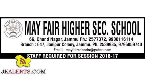 TEACHING JOBS IN MAY FAIR HIGHER  SECONDARY SCHOOL