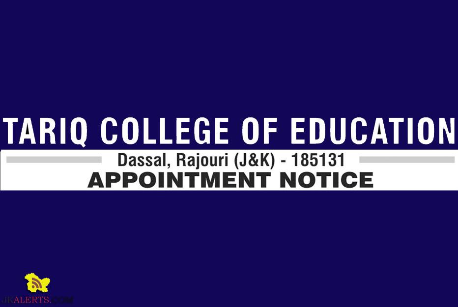 TARIQ COLLEGE OF EDUCATION JOBS