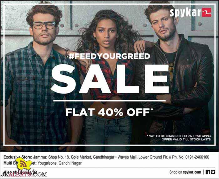 SPYKAR FLAT 40% OFF Wave Mall