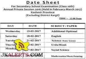 Download Date sheet