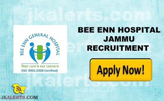 Bee Enn General Hospital Jammu Jobs