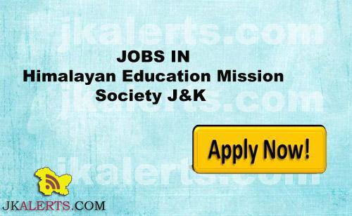 HIMALAYAN EDUCATION MISSION SOCIETY RAJOURI RECRUITMENT 2017