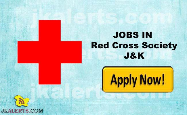 Jobs in Indian Red Cross Society J&K , IRCSJK Recruitment 2017