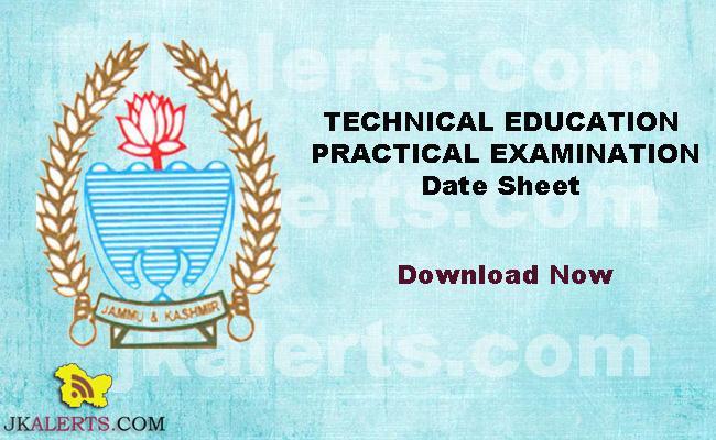 Kashmir Govt. Polytechnic Practical Exam Date Sheet
