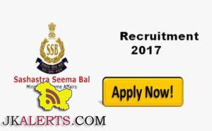 Sashastra Seema Bal SSB Recruitment 2017 Posts 746