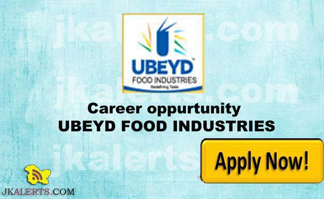 JOBS IN UBEYD FOOD INDUSTRIES
