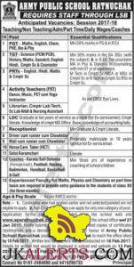 APS KALUCHAK JOBS
