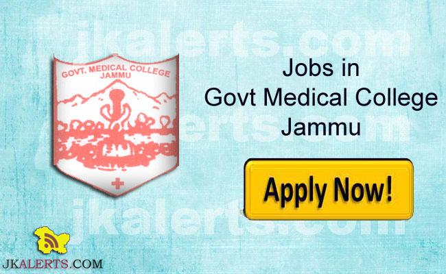 GOVERNMENT MEDICAL COLLEGE, JAMMU RECRUITMENT