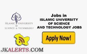 ISLAMIC UNIVERSITY OF SCIENCE & TECHNOLOGY JOBS RECRUITMENT