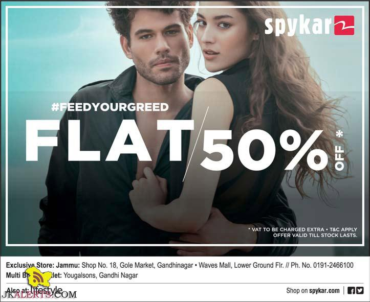 Spykar Flat 50% off Wave Mall , Lifestyle Jammu