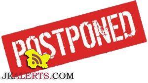 Kashmir University Postponed Exams