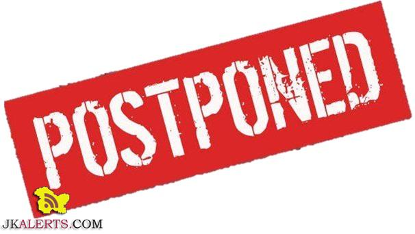 Kashmir University Postponed all exams upto 26 Jan