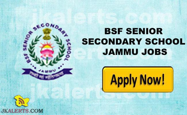 BSF SENIOR SECONDARY SCHOOL JAMMU WALK IN INTERVIEW