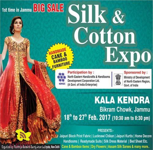 Big Sale Silk and Cotton Expo Kala Kendra Jammu