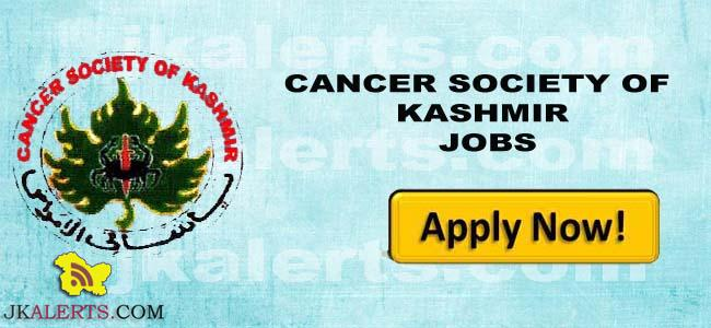 CANCER SOCIETY OF KASHMIR JOBS