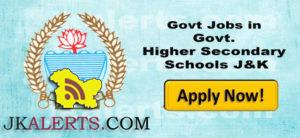 Jobs in Govt. Higher Secondary Schools of various districts