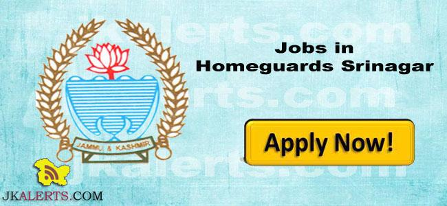 HOMEGUARDS SRINAGAR JOBS