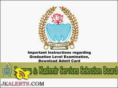 Important Instructions regarding Graduation Level Examination, Download Admit Card