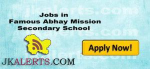 Jobs in Famous Abhay Mission Secondary School
