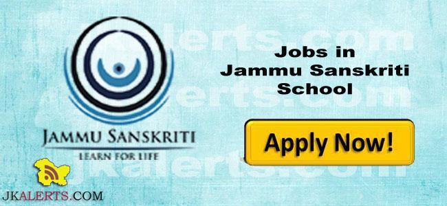 Jobs in Jammu Sanskriti School
