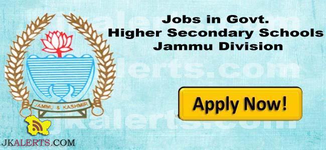 Jobs in Govt. Higher Secondary Schools