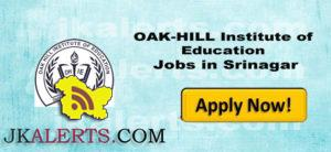 OAK-HILL Institute of Education Jobs