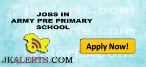 TIGER ARMY PRE PRIMARY SCHOOL JOBS