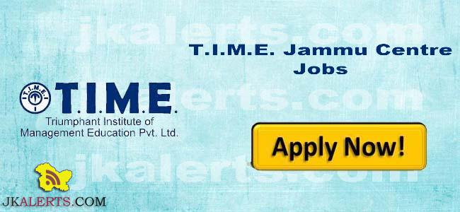 TIME Institute requires Teaching Non teaching Staff in Jammu Centre