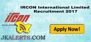 IRCON International Limited Recruitment 2017