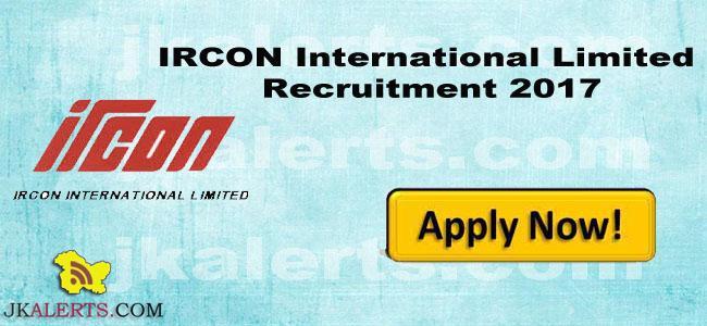 IRCON International Limited Recruitment 2017