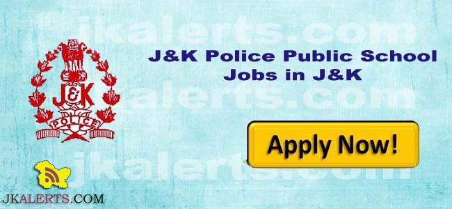 J&K Police Public School Jammu Jobs