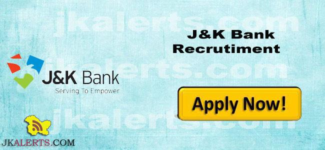 Jkbank j&K bank jobs recruitment career post vacancies 2017