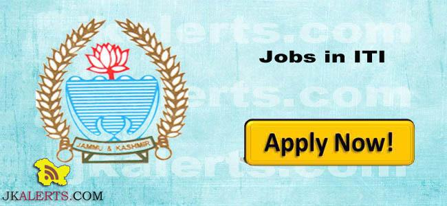 Govt ITI Jobs, GOVT ITI Recruitment 2019,ITI Jobs, Guest faculty ,VTIP Scheme, Govt Jobs , Doda Jobs, jobs in doda