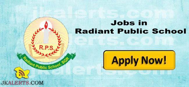Radiant Public School Srinagar Jobs
